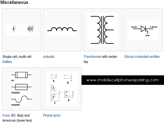 MOBILE / CELL PHONE REPAIRING: circuit symbols of most common ...