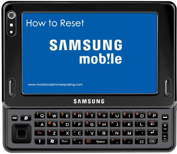 Samsung Mobile Phone Reset579